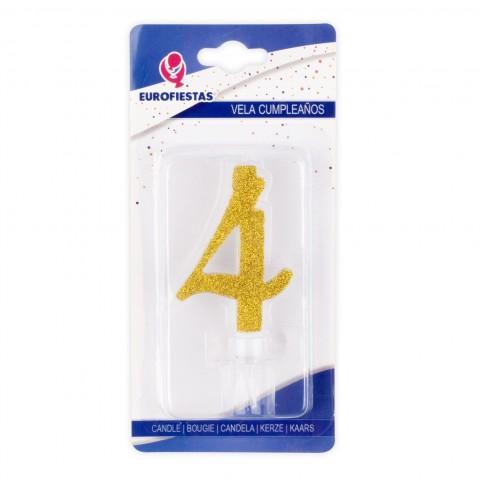 Vela Purpurina Oro Nº4