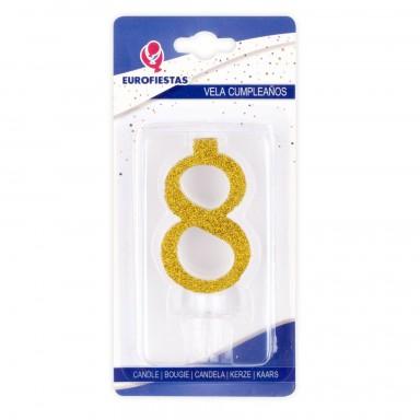 Vela Purpurina Oro Nº8