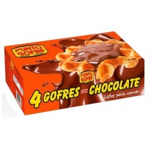 Waffle with chocolate mini box with 4 units
