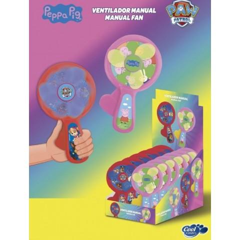 Ventilador Manual Peppa Pig & Patrulla Canina 12u.