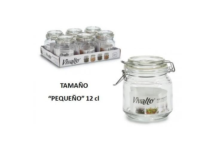 Tarro Vidrio Hermético Con Tapa Pequeño 12cl La Casa De Las Golosinas