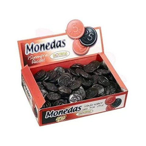 Monedas negras de Roypas caja con 200 unidades.