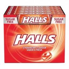 Caramelos Halls Fresa 20 paquetes