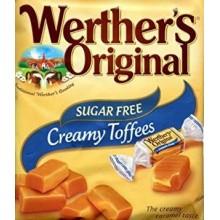 Caramelos Werther's Toffe nata Sin Azúcar bolsa de 1Kg.