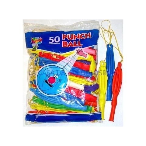 """Globos """"de arroz"""" con goma surtidos de colores 50u."""
