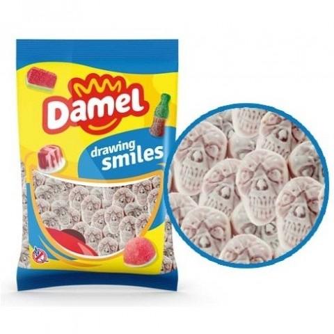 Caramelos de goma Damel Calaveras Rellenas 1kg.