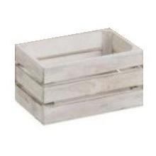 Caja de madera blanca pequeña 16x11x8cm.