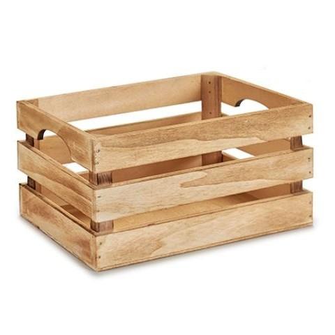 Caja de madera quemado natural 31x21x16cm.