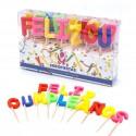 Velas cumpleaños letras