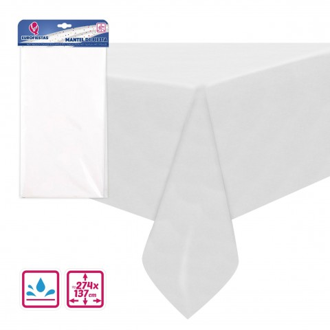 Mantel de fiesta Blanco 137x274cm.