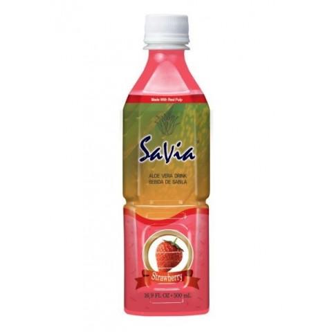 Bebida SaVia Aloe Vera sabor fresa 500ml.