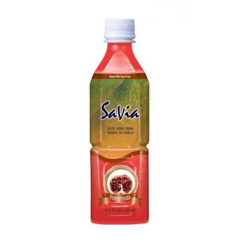 Bebida SaVia Aloe Vera sabor granada 500ml.