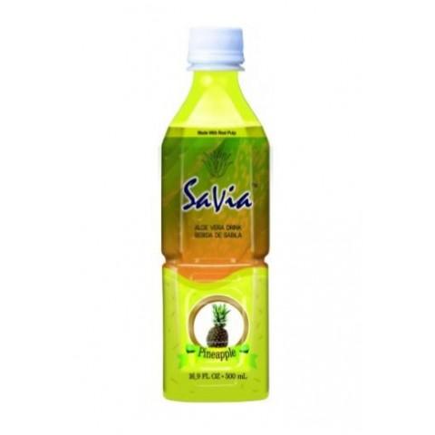 Bebida SaVia Aloe Vera sabor piña 500ml.