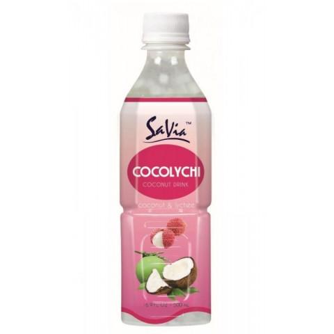 Bebida SaVia Aloe Vera sabor Coco & Lichi 500ml.