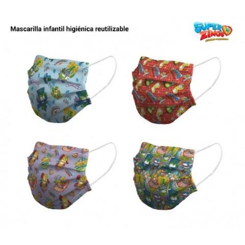 Mascarillas Higiénicas SuperZings Pack 8u.