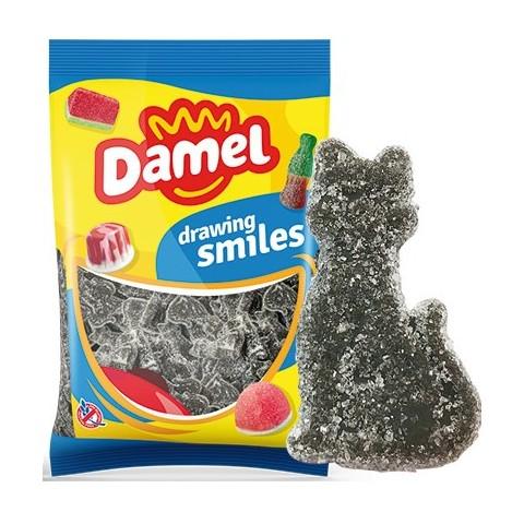 Caramelos de goma Damel Gatos de regaliz 1kg.