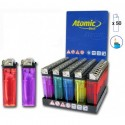Mecheros Atomic Basic transparentes 50u.