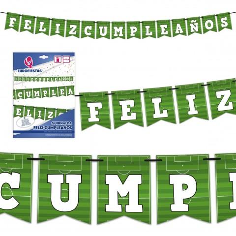 Guirnalda Futbol Feliz Cumpleaños 1u.