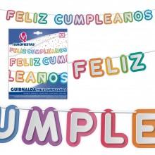 Guirnalda Feliz Cumpleaños Letras 1u.