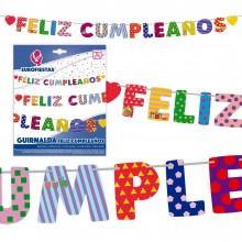 Guirnalda Feliz Cumpleaños Figuras 1u.
