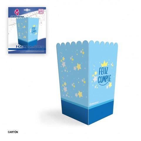 Pack 3 cajas para palomitas Feliz cumple