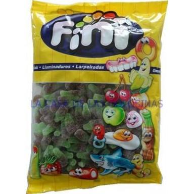 Caramelos de goma Fini Mini Botellas cola azucar 1 kg.