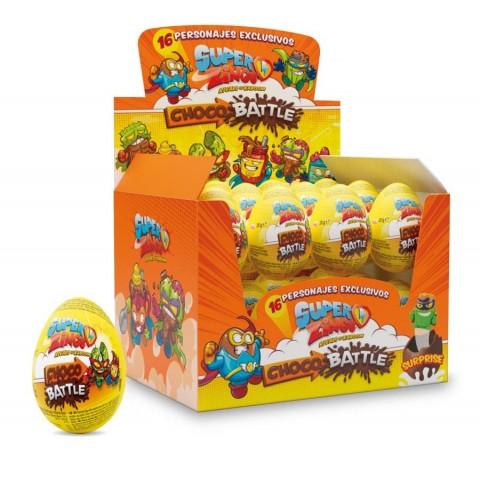 Huevos de chocolate Super Zings 24 unidades.