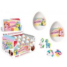 Huevos de chocolate Unicornios 24 unidades.