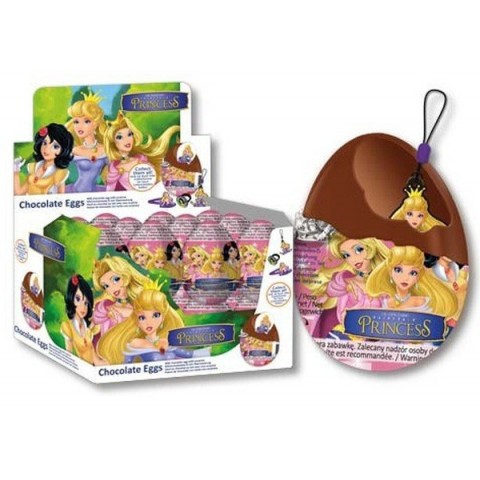 Huevos de chocolate Princesas 24 unidades.
