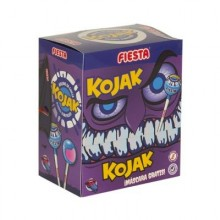 Kojak Fiesta Monster mora pintalenguas relleno de chicle caja 20u.