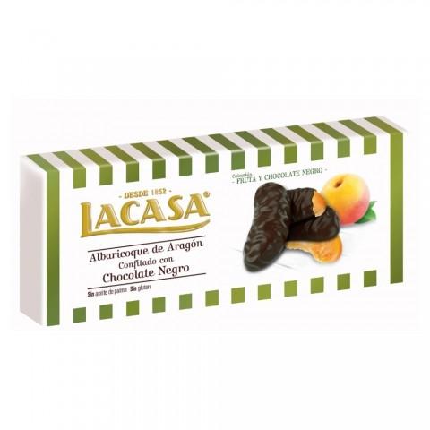 Albaricoque de Aragón confitado con chocolate negro LACASA 112gr.