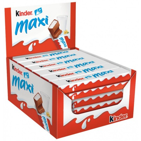 Kinder Maxi 36 unidades.