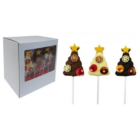 Piruletas de Chocolate Arbol de Navidad 20u.