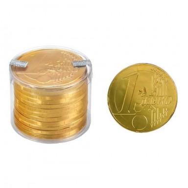 Medallón chocolate moneda gigante 100 mm 12 unidades.