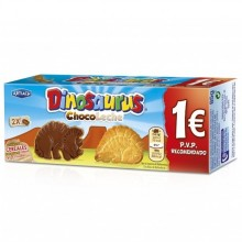 Galletas Dinosaurus chocolate con leche 85gr. 12u.