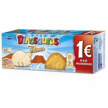 Galletas Dinosaurus chocolate blanco 88gr. 12u.