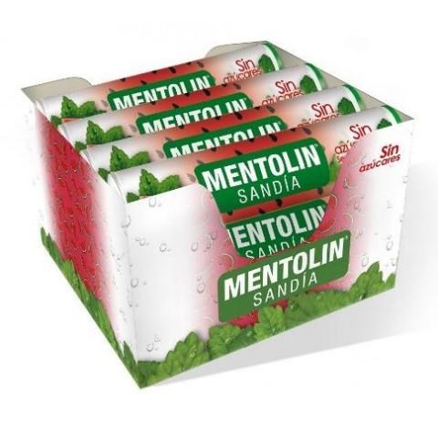 Caramelos Mentolin Sandía sin azúcar 12 tubos