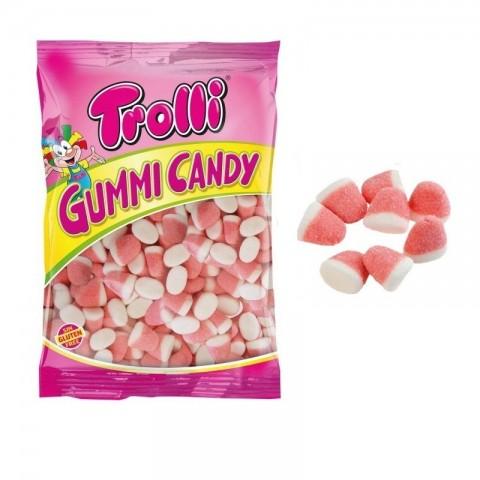 Caramelos de goma Besitos de fresa Trolli bolsa 1Kg.
