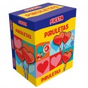 Piruletas Fiesta sabor Cereza estuche 80 unidades.