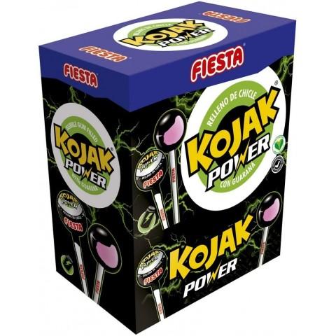 Kojak Power Fiesta sabor bebida energética relleno de chicle 100 unidades.