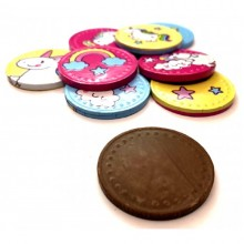 Monedas de chocolate Unicornio 200u.