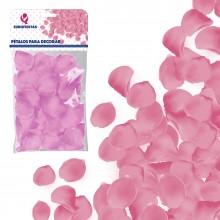 Petalos de tela color Rosa 100u.