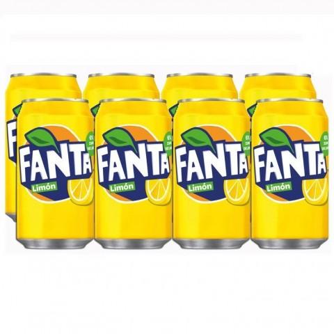 Fanta Limón lata 33cl pack 8 unidades