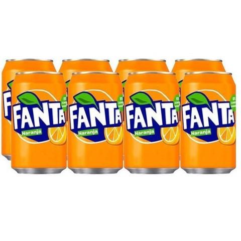 Fanta Naranja lata 33cl pack 8 unidades
