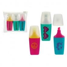 Rotuladores Fluorescentes con dibujo 3 unidades