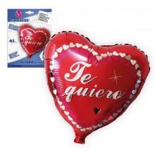 Globo Foil Corazón Te quiero Rojo 45cm. 1u.