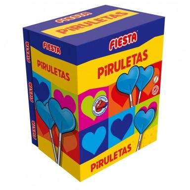 Piruletas Fiesta Pintalenguas estuche 80u.
