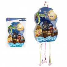 Piñata Piratas Feliz Cumpleaños