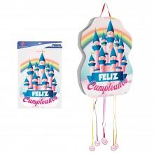 Piñata Castillo Feliz Cumpleaños