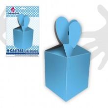 Cajitas para regalo azul 8 unidades